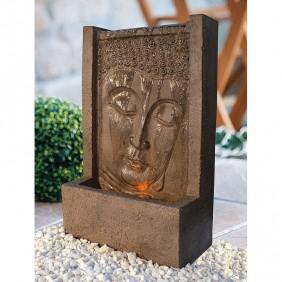 "Heissner Terrassenbrunnen-Set Buddha-Fountain ""brown"" LED"