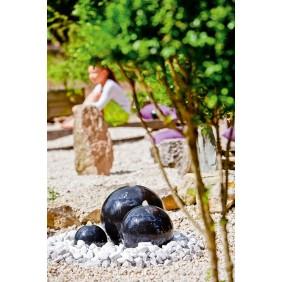 "Heissner Terrazzo Gartenbrunnen-Set ""Saphira LED"""