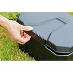 Heissner Garden Power Box: Ein-Hand-Verschluß zum leichten Öffnen