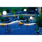 Heissner eco Unterwasser-LED-Band Starter-Set Warm-Weiß Teichrand u. Weg Nachts
