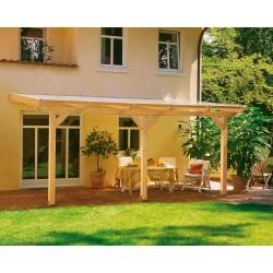 Skan Holz Terrassenüberdachung Andria mit Mittelpfosten Breite 434 cm