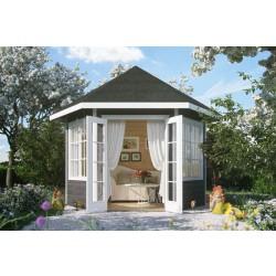 Skan Holz Gartenhaus Almelo - 28 mm inkl. gratis Fundamentanker/Pads