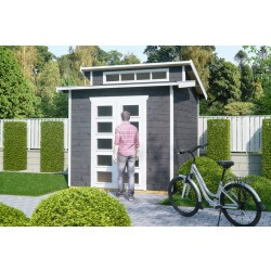 Skan Holz 28 mm Gartenhaus Gent inkl. gratis Fundamentanker/Pads