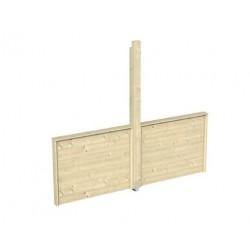 Skan Holz Brüstung halbhoch für Pavillon Toulouse