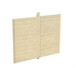 Skan Holz Wand-Element für Pavillon Toulouse