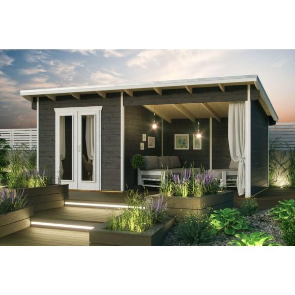 Skan Holz Gartenhaus Texel - 28 mm