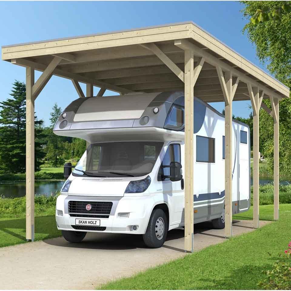 skan holz caravan carport konfi 400x800 cm mit erh hter einfahrt skanholz. Black Bedroom Furniture Sets. Home Design Ideas