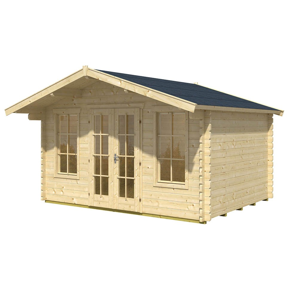 skan holz 45 mm gartenhaus trondheim bergen skanholz. Black Bedroom Furniture Sets. Home Design Ideas