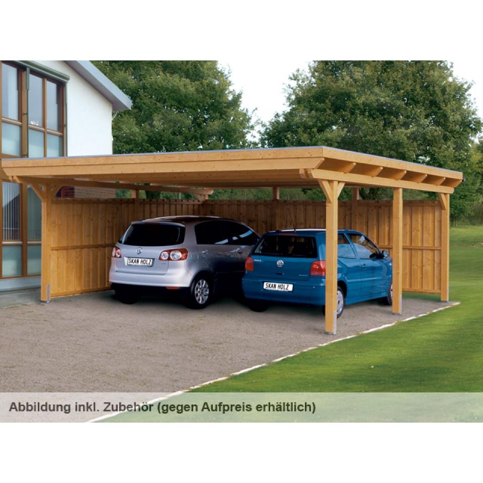 skan holz flachdach carport skanholz. Black Bedroom Furniture Sets. Home Design Ideas