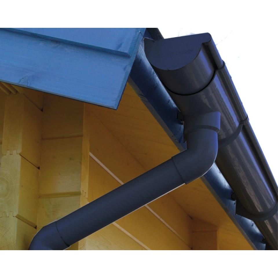 kunststoff dachrinnenset für karibu gartenhaus bensburg 4 | mein