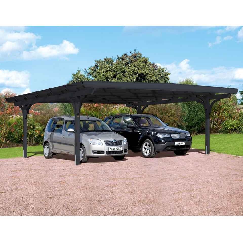 Skan holz odenwald design doppelcarport skanholz for Design carport online