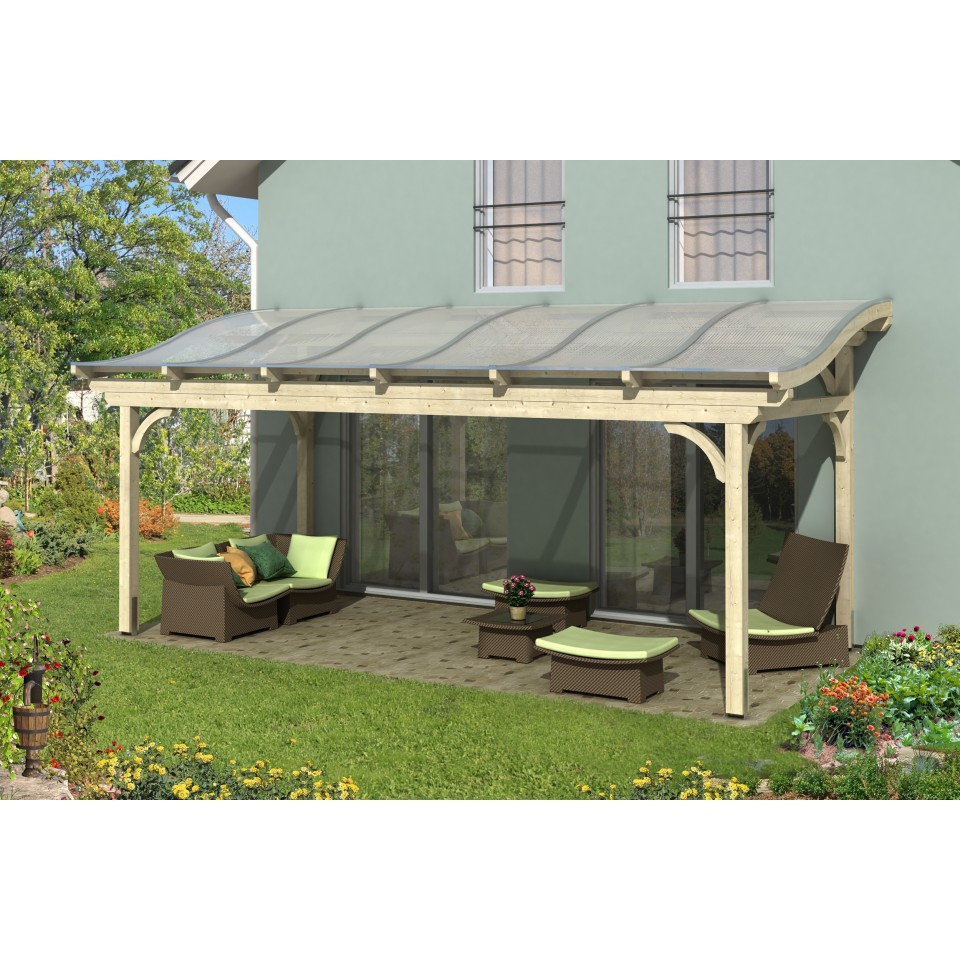 skan holz terrassen berdachung florenz mit geschwungenen sparren breite 648 cm skanholz. Black Bedroom Furniture Sets. Home Design Ideas