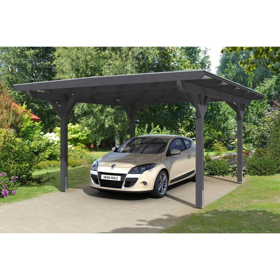 Carport Wandanbau: Skan Holz Odenwald - Design Einzel Carport