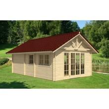 Skan Holz 70 mm Blockbohlenhaus Toronto 7 und 10 inkl. gratis Fundamentanker/Pads