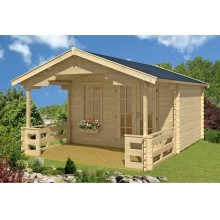 Skan Holz 45 mm Gartenhaus Trelleborg/Langesund inkl. gratis Fundamentanker/Pads