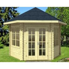 Skan Holz 28 mm Gartenhaus  Madeira 2 inkl. gratis Fundamentanker/Pads