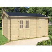Skan Holz 28 mm Blockbohlenhaus Alcudia inkl. gratis Fundamentanker/Pads