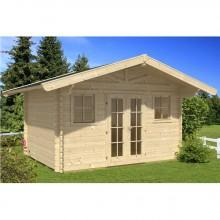 Skan Holz 45 mm Gartenhaus Davos inkl. gratis Fundamentanker/Pads