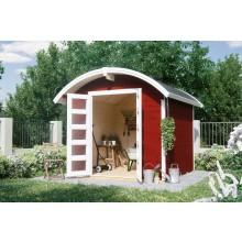 Skan Holz 28 mm Gartenhaus Delft inkl. gratis Fundamentanker/Pads