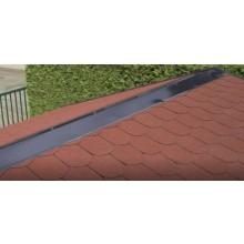 Aluminium Firstabdeckung für Satteldach-Gartenhäuser anthrazit (1 Stück á 2 m)