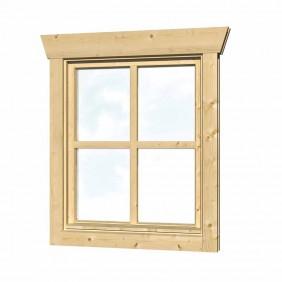 Skan Holz Einzelfenster für 28 mm Blockbohlenhäuser