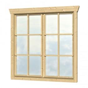 Skan Holz Doppelfenster für 28 mm Blockbohlenhäuser Dreh-Kipp-Funktion