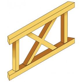 Skan Holz Brüstung Andreaskreuze Größe 2