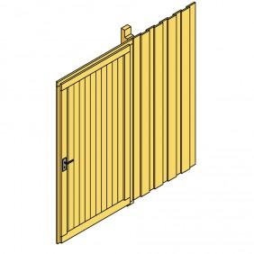 Skan Holz Seitenwand für Leimholz Carports - Deckelschalung