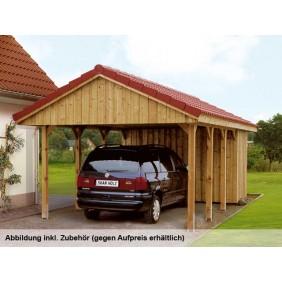 Skan Holz Sauerland - Satteldach Einzelcarport Breite 380 cm-