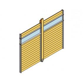 Skan Holz Wand-Element mit Lichtband für Pavillon Toulouse