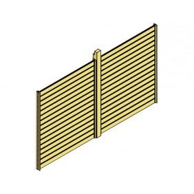 Skanholz Rückwand Rhombus passend für Einzel-Carport Spessart