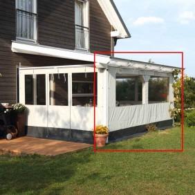 Skan Holz Polyester Partyzeltwände für Terrassenüberdachungen für die Front (Wandanbau+freistehend)
