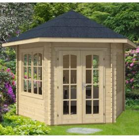 Skan Holz 28 mm Gartenhaus Blockbohlenhaus Madeira 3