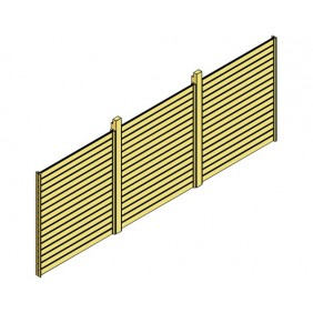 Skanholz Rückwand Rhombus passend für Doppel-Carport Spessart