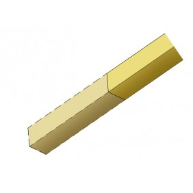 Skan Holz Pfostenverlängerung für Carports aus Leimholz 14 x 14 cm