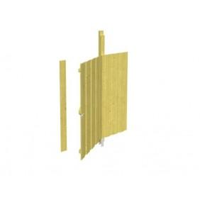 Skan Holz Seitenwand für Carports inkl. Tür (81 x 180 cm) - Deckelschalung