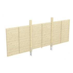 Skan Holz Rückwand Rhombus passend für Doppel-Carport Spessart