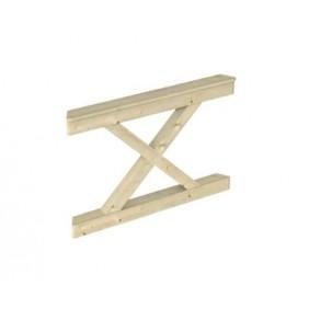 Skan Holz Brüstung Andreaskreuze  zu Pavillon Nancy