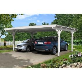 Skan Holz Odenwald - Design Doppel Carport aus Leimholz Breite 640 cm