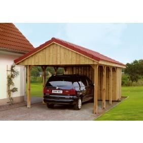 Skan Holz Sauerland - Satteldach Einzelcarport Breite 430 cm