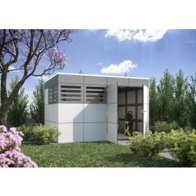 Skan Holz Cross Cube Gartenhaus Sydney 4 Detailansicht