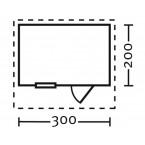 Skan Holz 28 mm Blockbohlenhaus Como Grundriss Größe 1