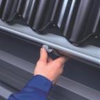 Metall Dachrinnenset für Skan Holz Terrassenüberdachung Rimini/Ravenna Breite 648 cm