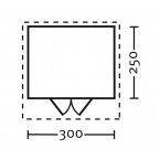 Skan Holz 28 mm Blockbohlenhaus Faro Grundriss Größe 2
