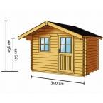 Skan Holz 28 mm Blockbohlenhaus Como Zeichnung