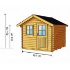 Skan Holz 28 mm Blockbohlenhaus Porto Zeichnung