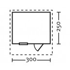 Skan Holz 28 mm Blockbohlenhaus Como Grundriss Größe 2