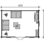 Skan Holz 45 mm Blockbohlenhaus Basel Grundriss Basel 1