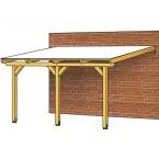 Skan Holz Terrassenüberdachung Leimholz Breite 434 cm