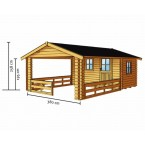 Skan Holz 28 mm Terrassenhaus 28 Zeichnung